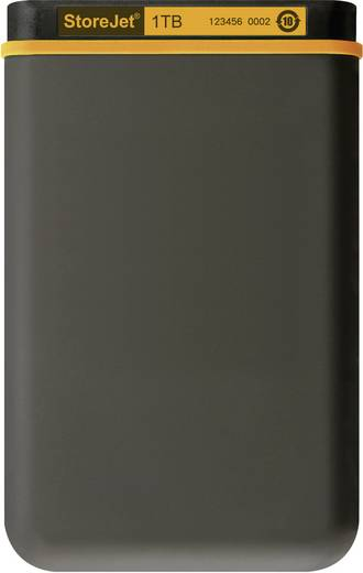 Externe Festplatte 6.35 cm (2.5 Zoll) 1 TB Transcend StoreJet Dunkel-Grau, Orange USB 2.0