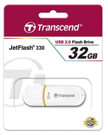 USB-Stick 32 GB Transcend JetFlash® 330 Weiß TS32GJF330 USB 2.0