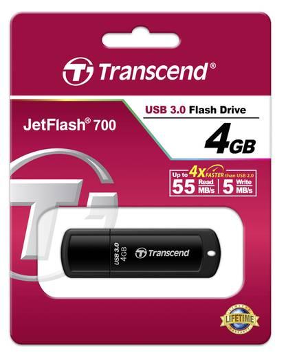 Transcend JetFlash® 700 USB-Stick 4 GB Schwarz TS4GJF700 USB 3.0