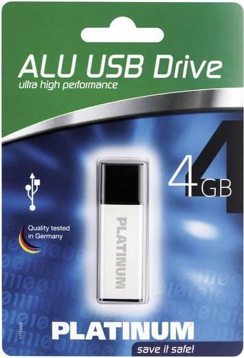 USB-Stick 4 GB Platinum ALU Silber 177555 USB 2.0