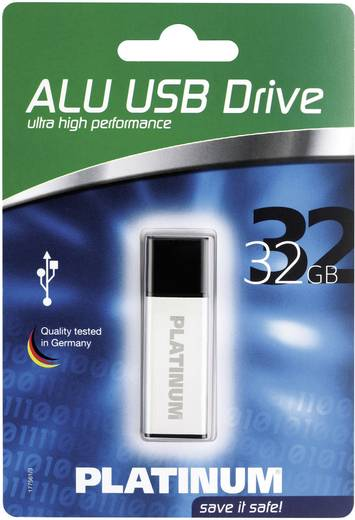 Platinum ALU USB-Stick 32 GB Silber 177561 USB 2.0
