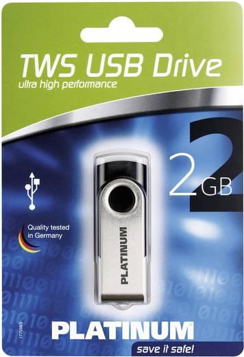 USB-Stick 2 GB Platinum TWS Schwarz 177558 USB 2.0