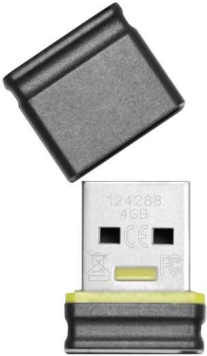 Platinum Mini USB-Stick 4 GB Schwarz, Gelb 177534 USB 2.0