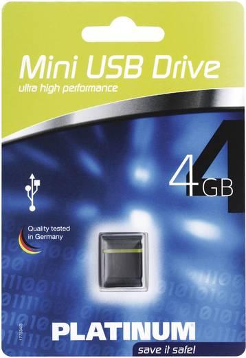 USB-Stick 4 GB Platinum Mini Schwarz, Gelb 177534 USB 2.0