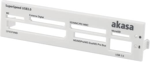 Einbau-Speicherkartenleser 8.9 cm (3.5 Zoll) Akasa AK-ICR-13 Schwarz, Weiß