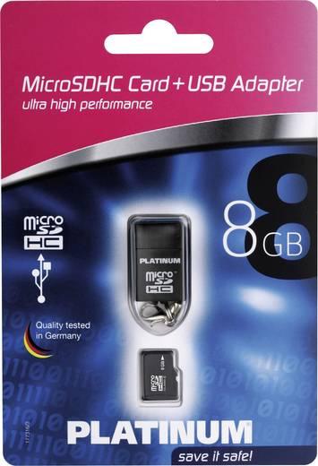 Platinum MicroSDHC Karte 8GB Class 6 inkl. USB-Kartenleser
