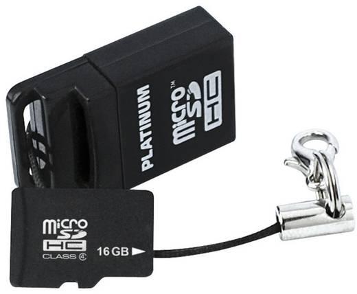 Platinum MicroSDHC Karte 16GB Class 6 inkl. USB-Kartenleser