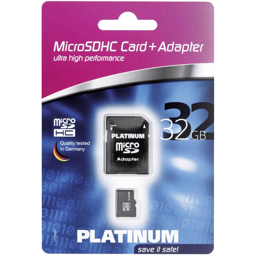 microsdhc card 32 gb platinum micro sdhc karte 32gb class. Black Bedroom Furniture Sets. Home Design Ideas