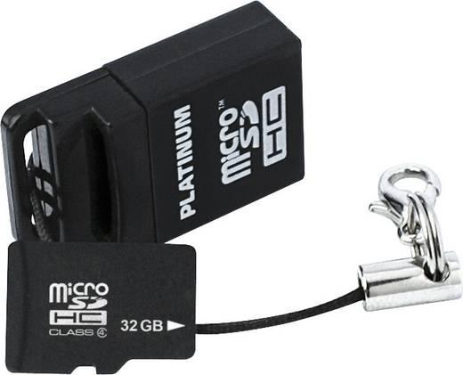 Platinum MicroSDHC Karte 32GB Class 6 inkl. USB-Kartenadapter