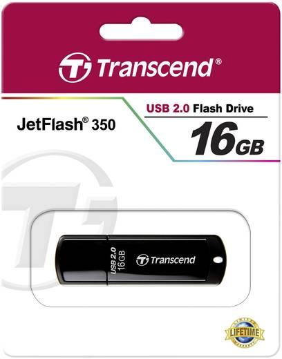 Transcend JetFlash® 350 USB-Stick 16 GB Schwarz TS16GJF350 USB 2.0
