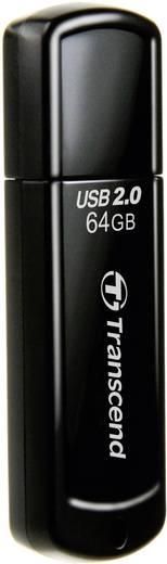 Transcend JetFlash® 350 USB-Stick 64 GB Schwarz TS64GJF350 USB 2.0