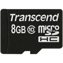 Paměťová karta microSDHC, 8 GB, Transcend Premium, Class 10 - Transcend microSDHC Class 10 8GB TS8GUSDC10 - Transcend microSDHC Class 10 8GB TS8GUSDC10
