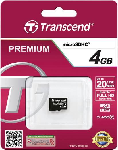 microSDHC-Karte 4 GB Transcend Premium Class 10