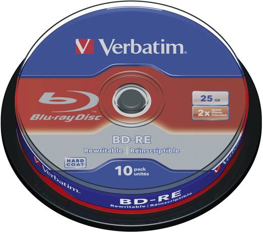 Blu-ray BD-RE Rohling 25 GB Verbatim 43694 10 St. Spindel