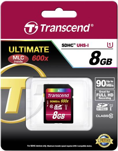 SDHC-Karte 8 GB Transcend Ultimate Class 10, UHS-I