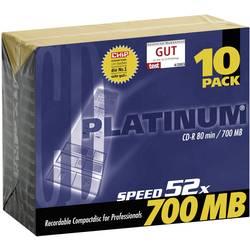 Image of Platinum 100144 CD-R 80 Rohling 700 MB 10 St. Slimcase