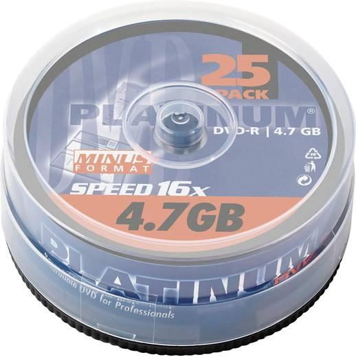 DVD-R Rohling 4.7 GB Platinum 100302 25 St. Spindel
