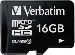 Pamětová karta microSDHC Verbatim 16GB, Class 10