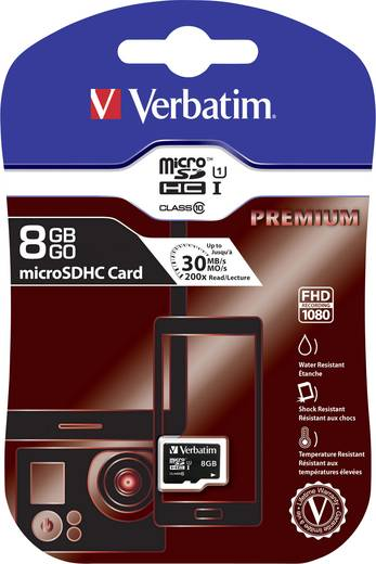 microSDHC-Karte 8 GB Verbatim Premium Class 10