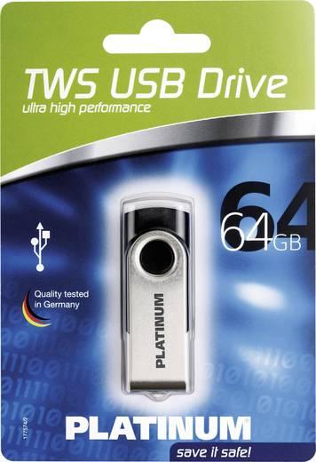 USB-Stick 64 GB Platinum Twister Schwarz 177558 USB 2.0