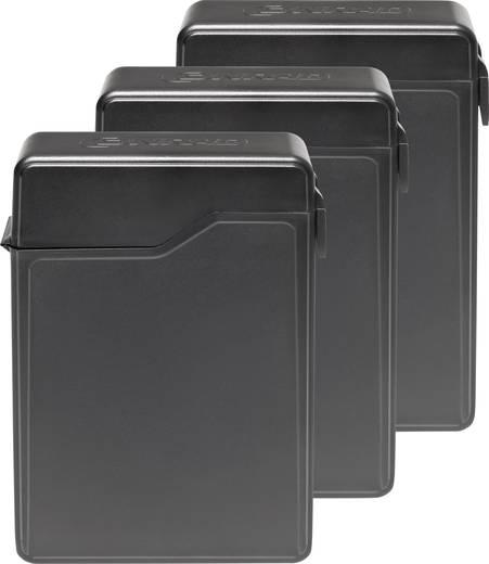 6.35 cm (2.5 Zoll) Festplatten-Aufbewahrungsbox 3er Set CC-25HDC