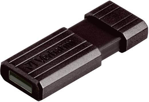 USB-Stick 64 GB Verbatim Pin Stripe Schwarz 49065 USB 2.0