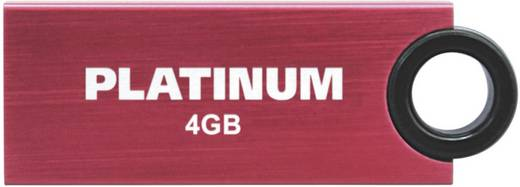 Platinum Slender USB-Stick 4 GB Rot 177544 USB 2.0