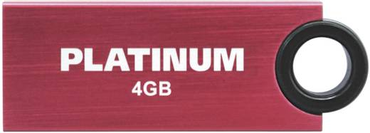 USB-Stick 4 GB Platinum Slender Rot 177544 USB 2.0
