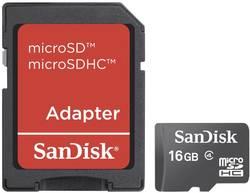 Paměťová karta Micro SDHC 16 GB SanDisk Micro SD Karte 16 GB Class 4 vč. SD adaptéru