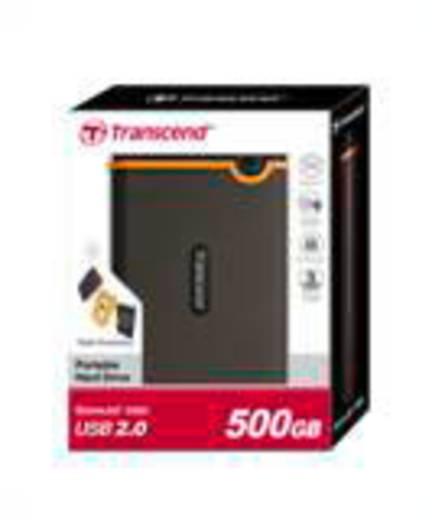 Externe Festplatte 6.35 cm (2.5 Zoll) 500 GB Transcend StoreJet 25M2 Dunkel-Grau, Orange USB 2.0