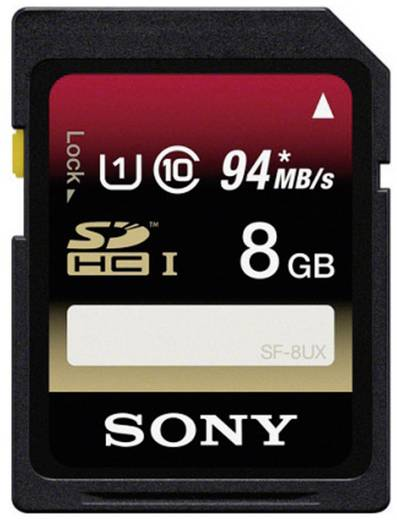 SDHC-Karte 8 GB Sony 8GB Class 10 SDHC Card Class 10, UHS-I