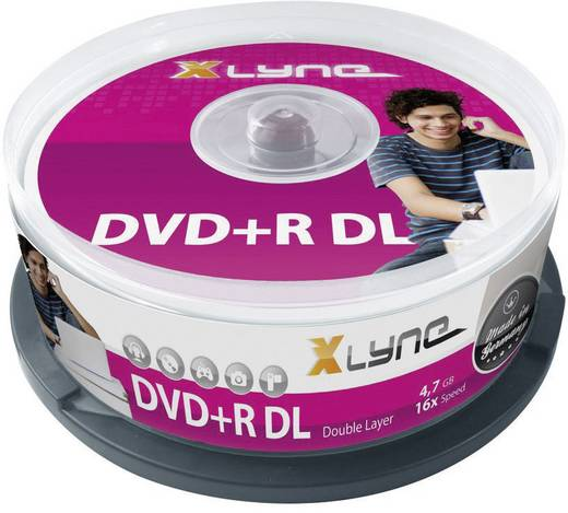 DVD+R DL Rohling 8.5 GB Xlyne 4025000 25 St. Spindel