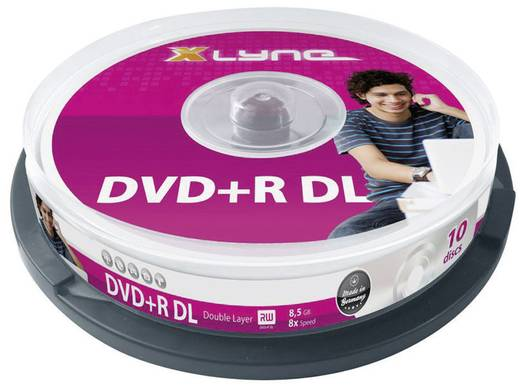 Xlyne DVD+R DL 8.5 GB 8x 10er Spindel