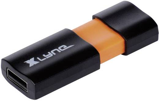 USB-Stick 8 GB Xlyne Wave Schwarz, Orange 7108000 USB 2.0
