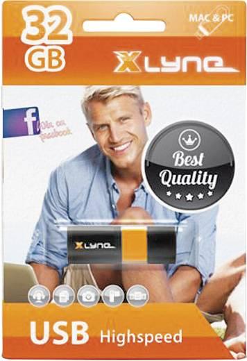 Xlyne Wave USB-Stick 32 GB Schwarz, Orange 7132000 USB 2.0