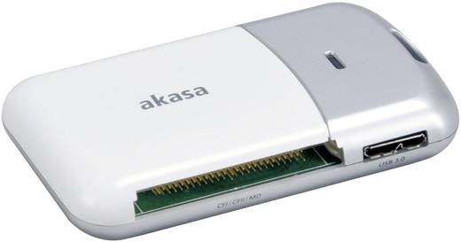 Externer Speicherkartenleser USB 3.0 Akasa Silber