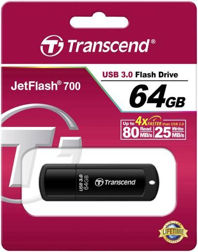 USB-Stick 64 GB Transcend JetFlash® 700 Schwarz TS64GJF700 USB 3.0