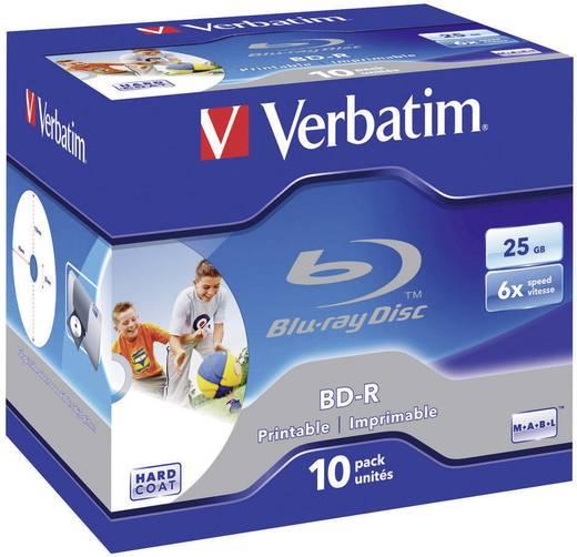 Blu-ray BD-R Rohling 25 GB Verbatim 43713 10 St. Jewelcase Bedruckbar