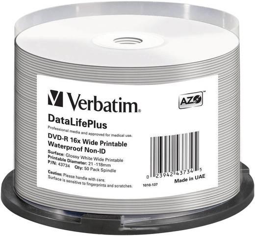 DVD-R Rohling 4.7 GB Verbatim 43734 50 St. Spindel Bedruckbar