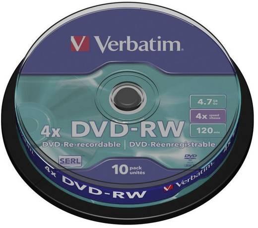 DVD-RW Rohling 4.7 GB Verbatim 43552 10 St. Spindel Wiederbeschreibbar