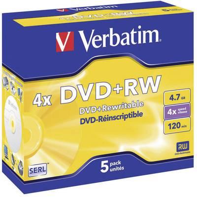 DVD+RW Rohling 4.7 GB Verbatim 43229 5 St. Jewelcase Wiederbeschreibbar, Silber Matte Ober Preisvergleich