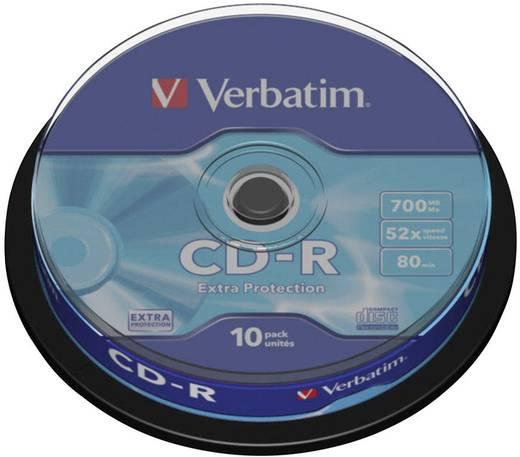 CD-R Rohling 700 MB Verbatim 43437 10 St. Spindel