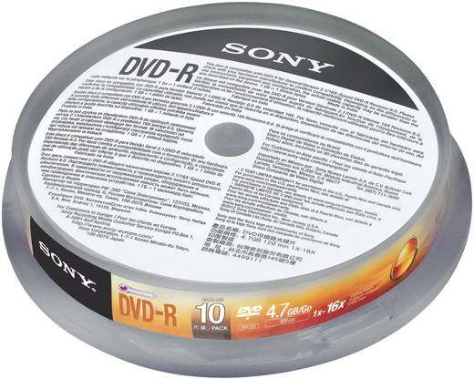DVD-R Rohling 4.7 GB Sony 10DMR47SP 10 St. Spindel
