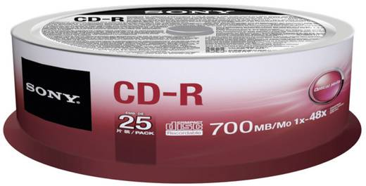 CD-R Rohling 700 MB Sony 25CDQ80SP 25 St. Spindel
