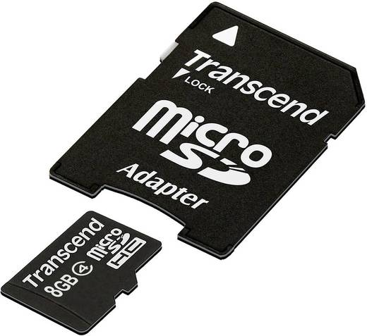 microSDHC-Karte 8 GB Transcend Standard Class 4 inkl. SD-Adapter