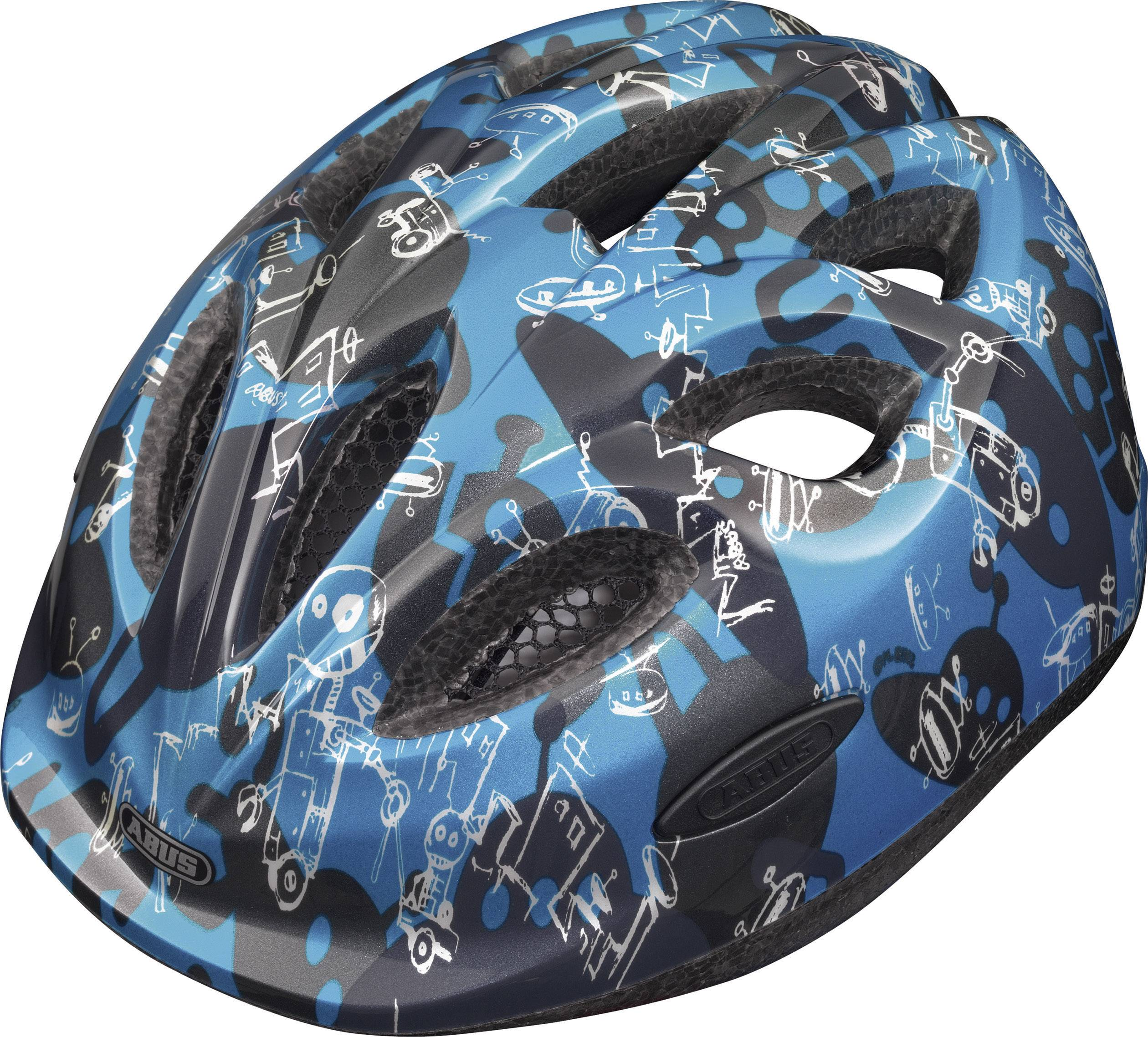 awesome abus smiley robot blue m fahrradhelm with fahrradhelm kaufen
