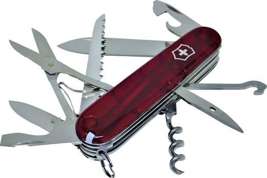 Schweizer Taschenmesser Anzahl Funktionen 15 Victorinox Huntsman 1.3713.T Rot (transparent)