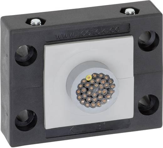 Icotek KEL-B1 Kabeleinführungsleiste Klemm-Ø (max.) 35 mm Polyamid Schwarz 1 St.