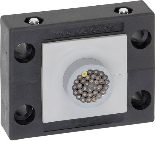 Kabeleinführungsleiste Klemm-Ø (max.) 35 mm Polyamid Schwarz Icotek KEL-B1 1 St.