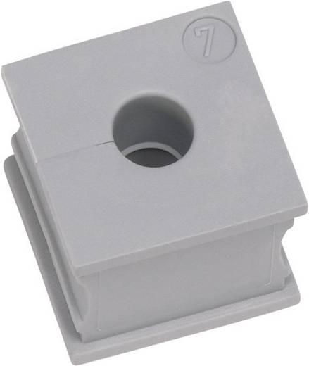 Icotek KT 3 Kabeldurchführung geschlitzt Klemm-Ø (max.) 4 mm Elastomer Grau 1 St.